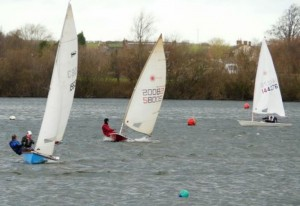 Racing at Swarkestone Sailing Club